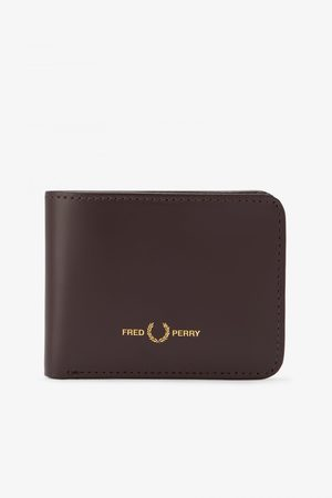 Fred Perry Authentics Fred Perry Matt Leather Billfold Wallet - Ox Blood