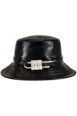 Givenchy Lock Leather Bucket Hat in