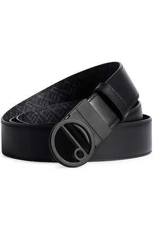 dunhill Reversible Leather & Coated Canvas Belt