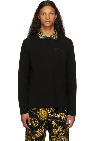 Versace Jeans Couture Regalia Baroque Accent Long Sleeve Polo