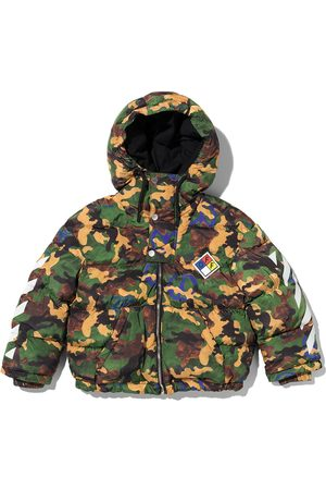 Off-White Kids Camouflage print puffer jacket