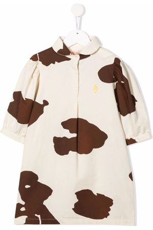 The Animals Observatory Cow print collared dress
