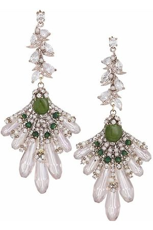 Theia 14K White-Gold-Plated & Multi-Stone Chandelier Earrings