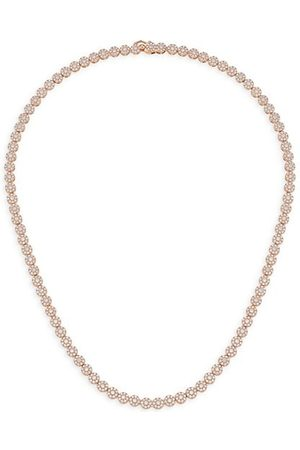 Theia 14K Rose- -Plated & Cubic Zirconia Necklace