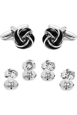 Cufflinks, Inc. 3-Piece Ox And Bull Trading Co. Black And Knot Stud Set