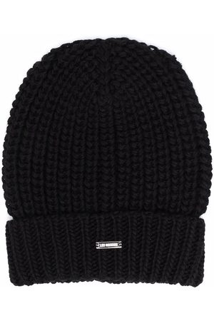 LES HOMMES KIDS Chunky ribbed knit beanie