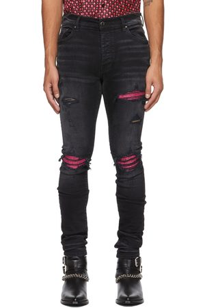 AMIRI & Pink Cracked Leather MX1 Jeans