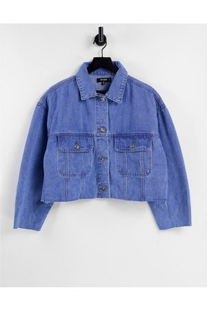 Missguided 90's denim jacket with pleat back in