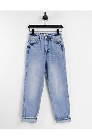 River Island Comfort mom sculpt jeans in light auth