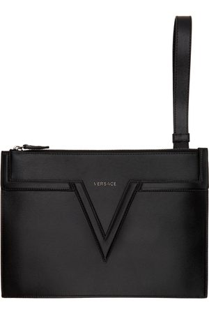 Versace Leather V Pouch