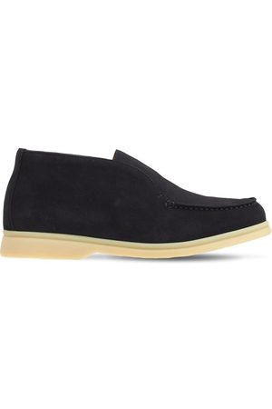 LORO PIANA Suede Slip-on Ankle Boots