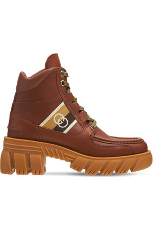 Gucci Women Boots - 40mm Romance Leather Combat Boots