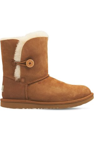 UGG Girls Boots - Bailey Button Shearling Boots