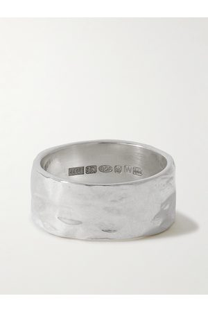 Bleue Burnham Men Rings - The Permanent Hammered Recycled Sterling Ring