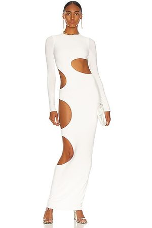 LAQUAN SMITH Cutout Slit Gown in