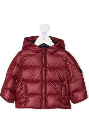 Fay Kids Zip-up hooded padded jacket