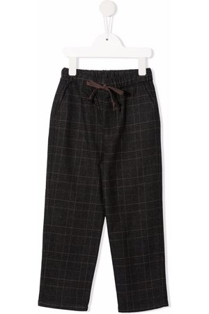 Zhoe & Tobiah Straight-leg checked trousers
