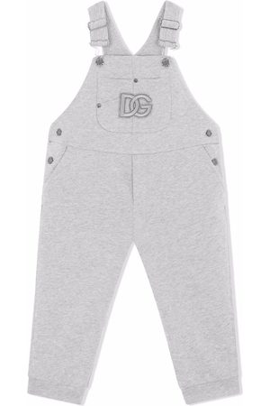 Dolce & Gabbana Logo-embroidered cotton dungarees