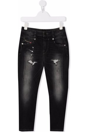 Diesel Kids Mid-rise tapered jeans