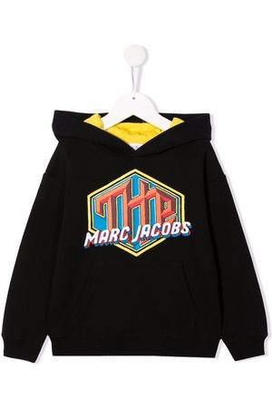 The Marc Jacobs Boys Hoodies - Logo patch cotton hoodie