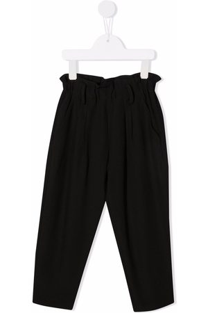 Dondup Girls Pants - Ruched-detail straight trousers