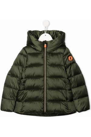 save the duck Logo-patch high-neck padded jacket