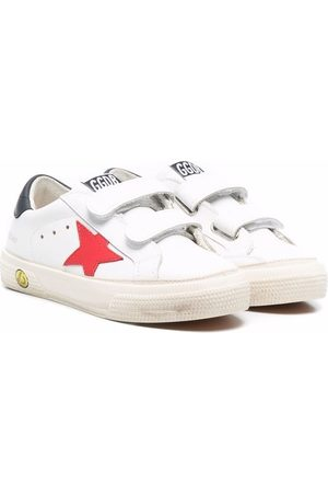 Golden Goose Boys School Shoes - Old School touch-strap sneakers