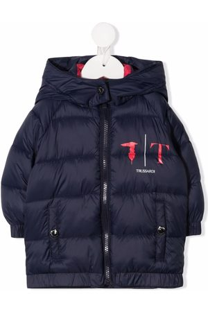 Trussardi Logo-print quilted padded jacket