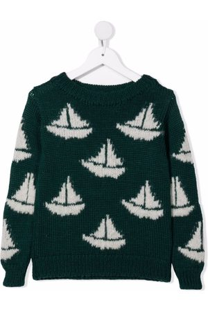 The Animals Observatory Boat print wool jumper