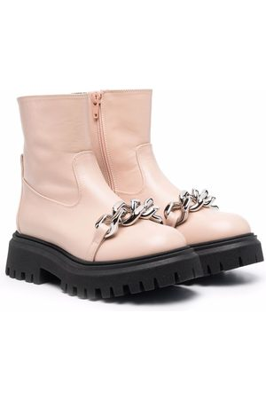 Nº21 Kids Chain-link strap ankle boots