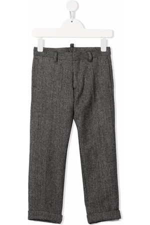 Dsquared2 Chevron-knit wool trousers