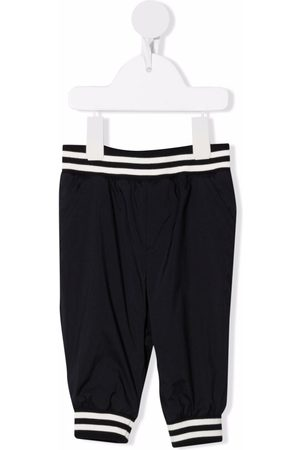 Moncler Baby Leggings - Logo-patch elasticated-waist trousers