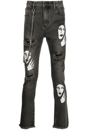 Haculla Witch print distressed jeans