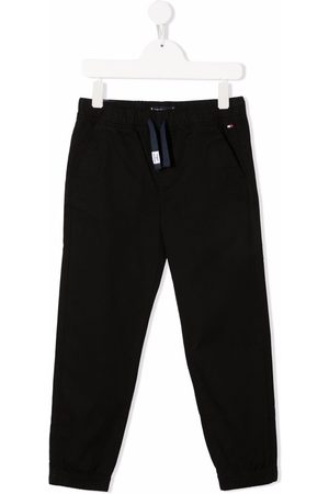 Tommy Hilfiger Junior Embroidered-logo drawstring-waist trousers