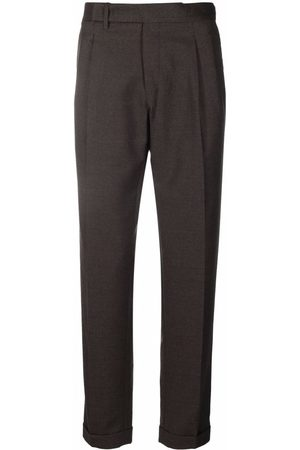 BRIGLIA Cropped wool tailored trousers