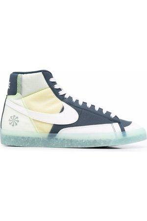Nike Logo patch panelled high-top sneakers