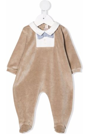 La Stupenderia Bodysuits & All-In-Ones - Bow-detail cotton-blend babygrow