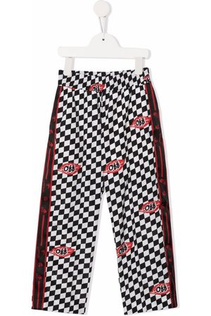 Off-White Kids OFF CHESSBOARD LEAVES TRACK P WHIT