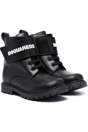 Dsquared2 Logo-strap lace-up ankle boots