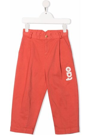 The Animals Observatory Logo print trousers