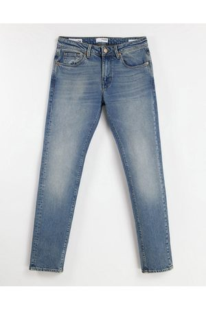 SELECTED Organic cotton blend slim jeans in light