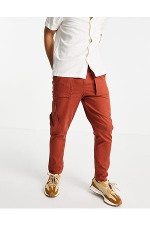 SELECTED Cargo trouser in burnt red