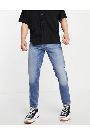 SELECTED Organic cotton blend slim tapered jeans in light made from hemp