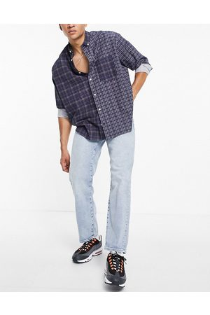 SELECTED Organic cotton loose tapered fit jeans in lightwash