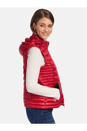 Basler Red and Navy Reversible Quilted Gilet 1218120201 15007 6102