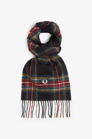Fred Perry Authentics Fred Perry Black Stewart Tartan Scarf - Black