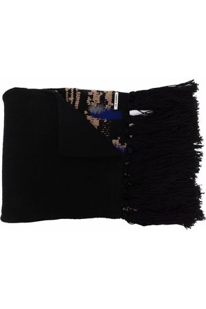 Les Hommes Textured-finish virgin wool scarf