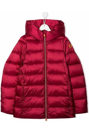 Save The Duck Kids Jackets - TEEN logo-patch high-neck padded jacket