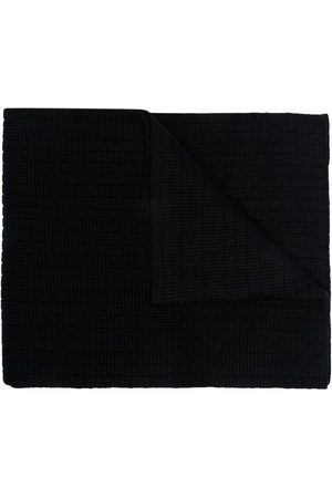 Moncler Logo-patch knitted scarf