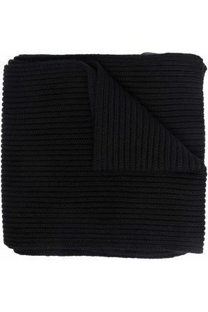 Dsquared2 Kids Boys Scarves - Ribbed-knit embroidered-logo scarf